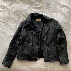 Michael Kors leather jacket size small